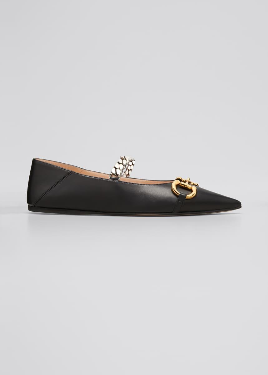 Gucci Deva Ballet Flats With Chain And Horsebit