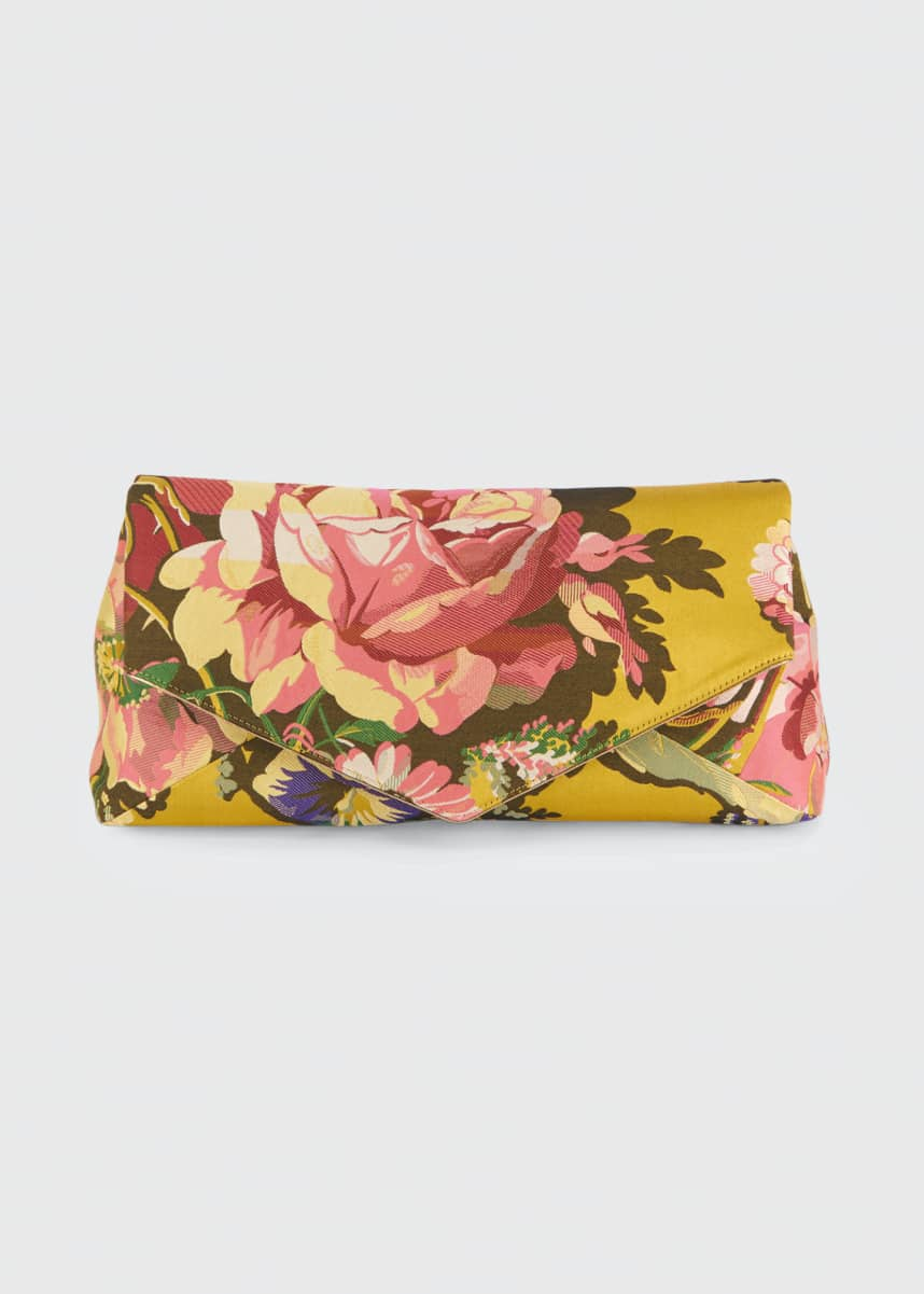 Dries Van Noten Floral-Printed Envelope Clutch Bag