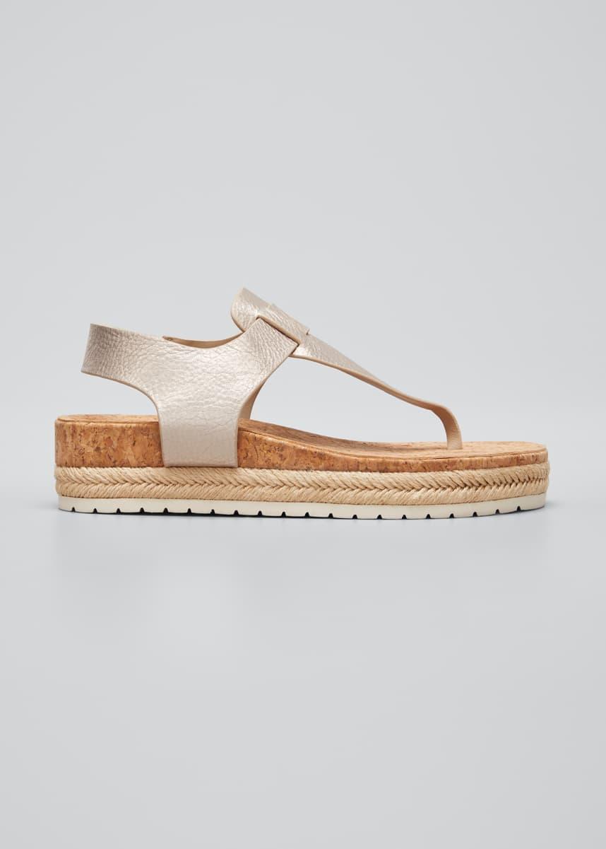 Vince Flint Metallic Cork Espadrille Sandals