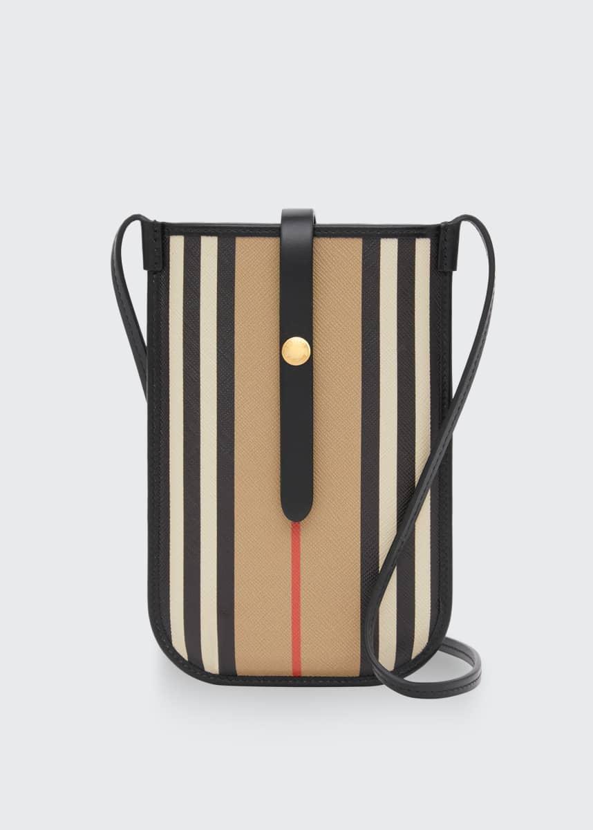 Burberry Anne Stripe Phone Crossbody Bag
