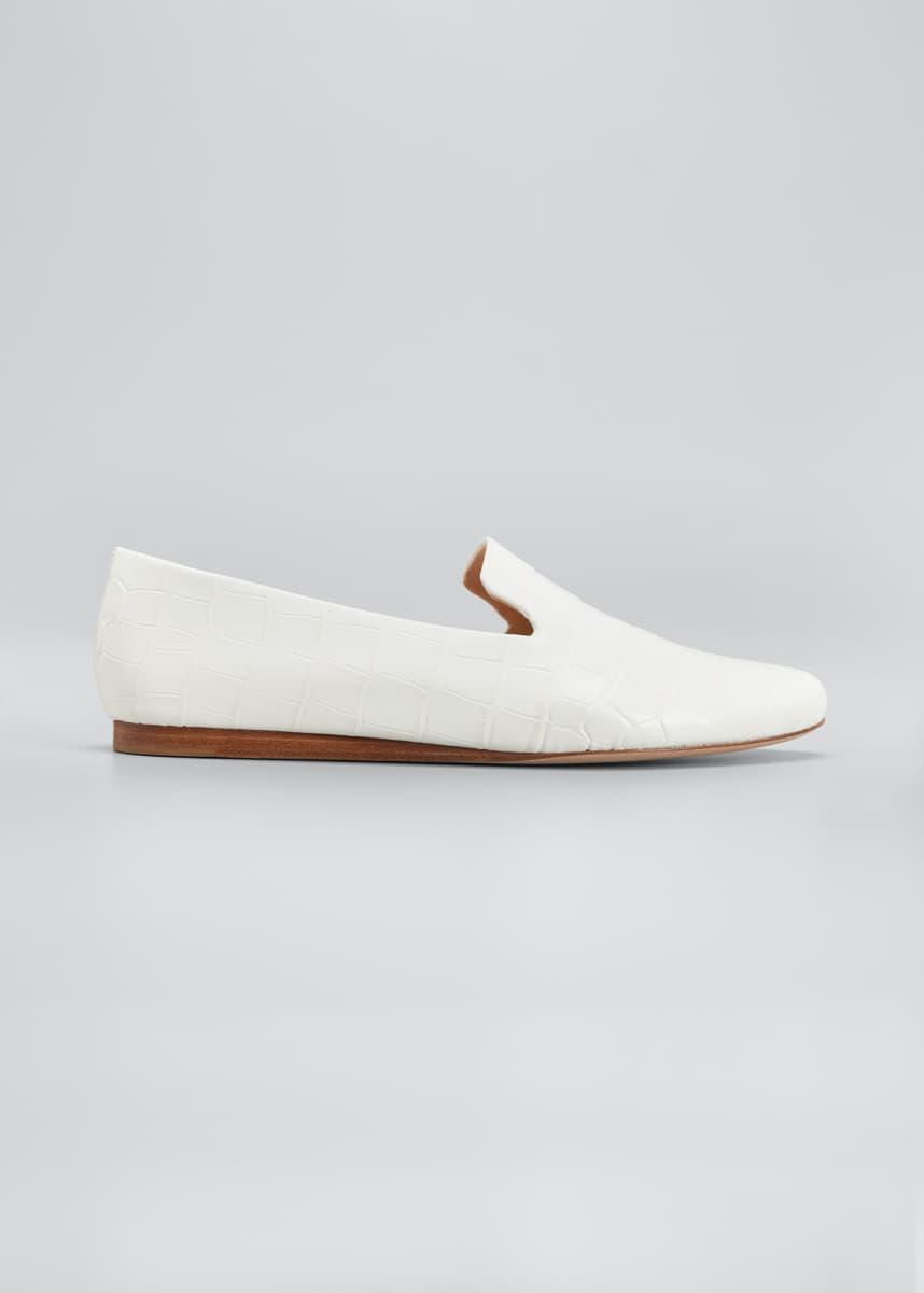 Veronica Beard Griffin Mock-Croc Loafers