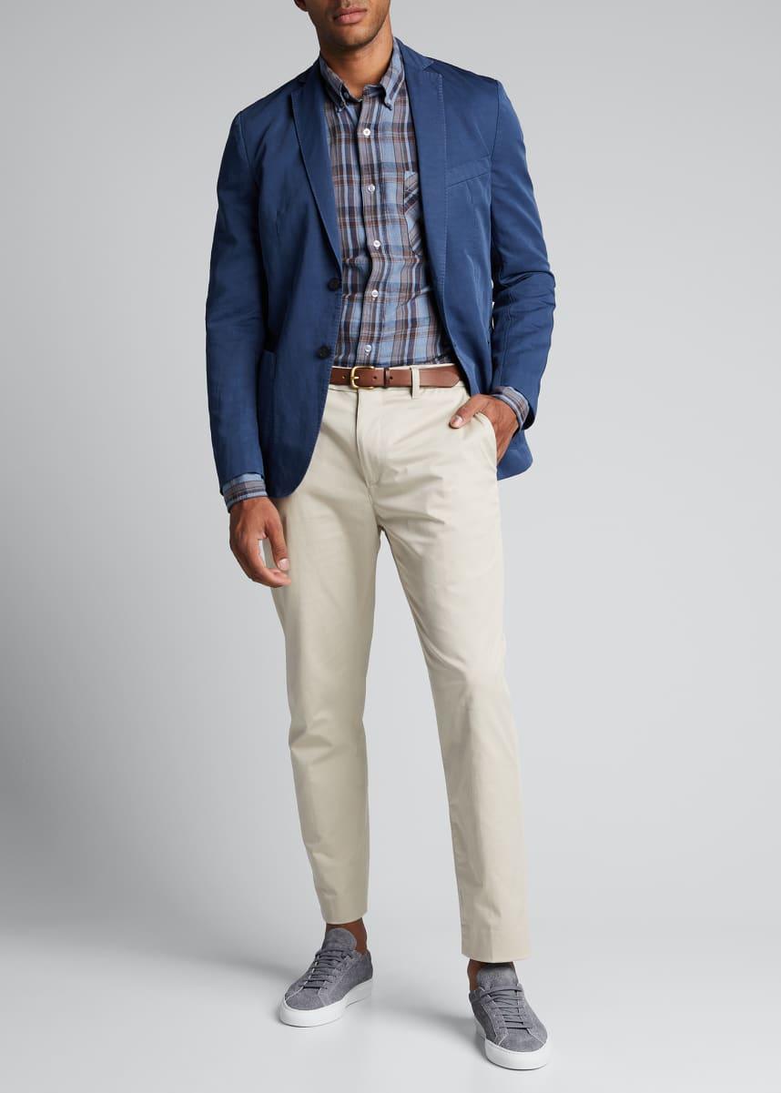 Officine Generale Men's Solid Cotton-Linen Sport Jacket