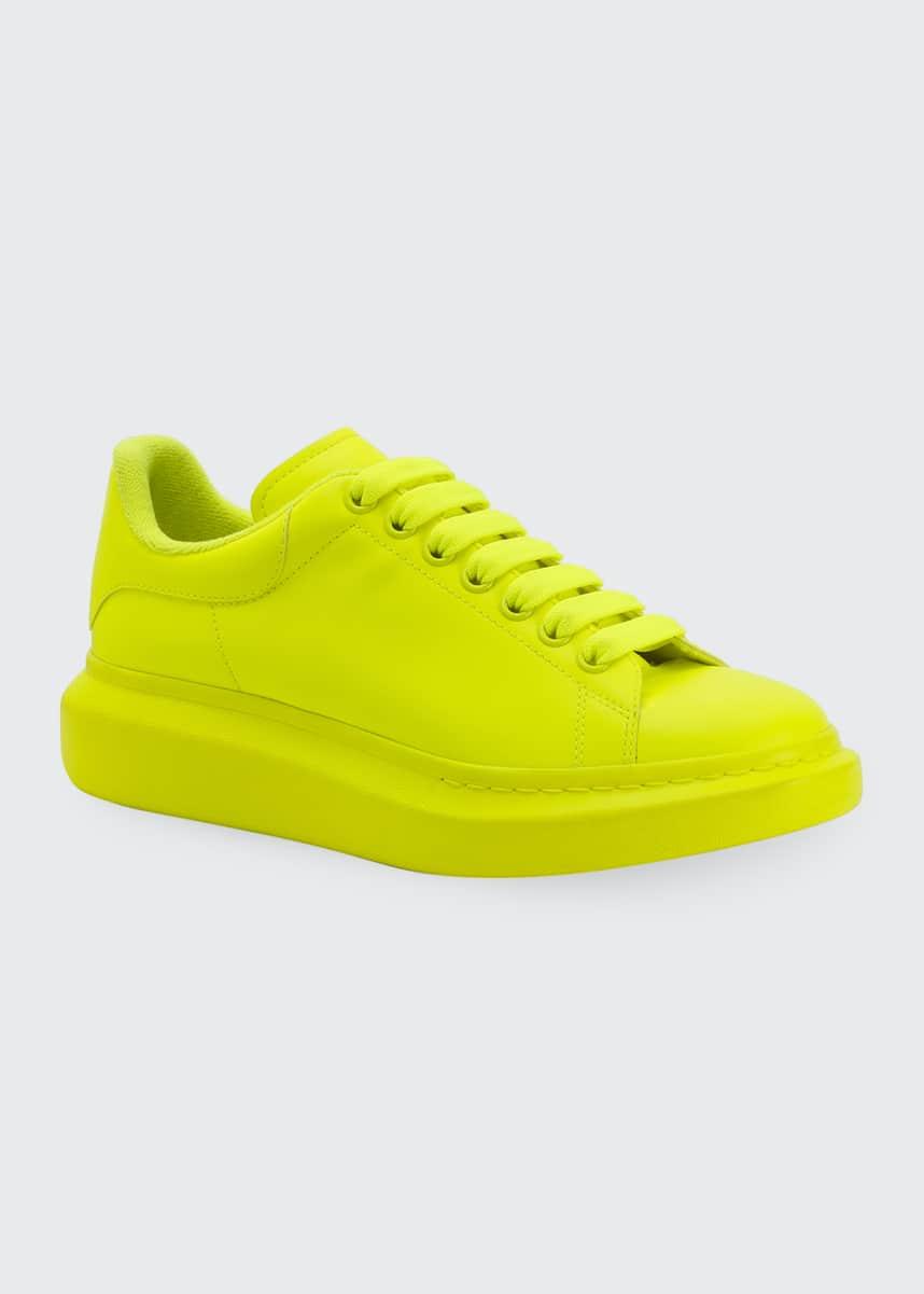 Alexander McQueen Men's Fluo Tonal Oversized Sneakers