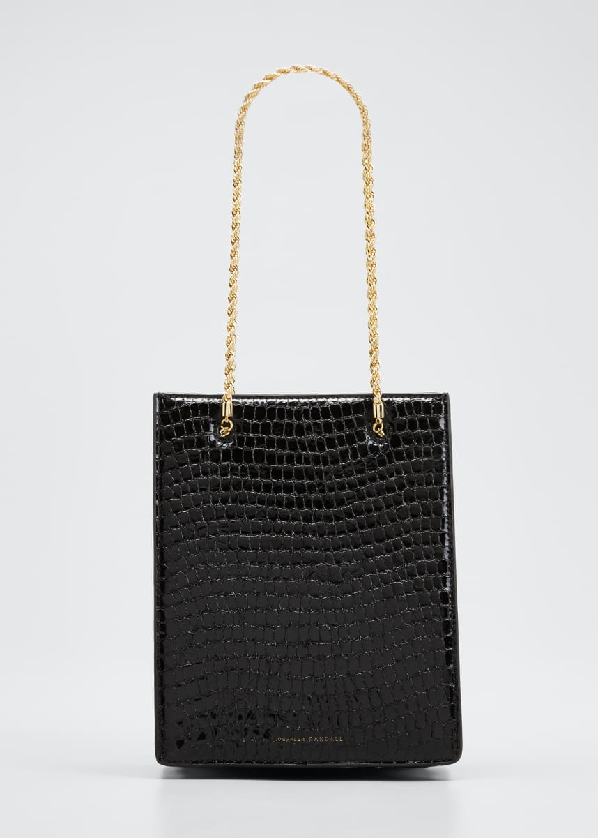 Loeffler Randall Antoinette Mock-Croc Chain Tote Bag