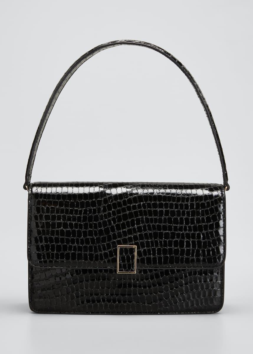Loeffler Randall Katalina Moc-Croc Shoulder Bag