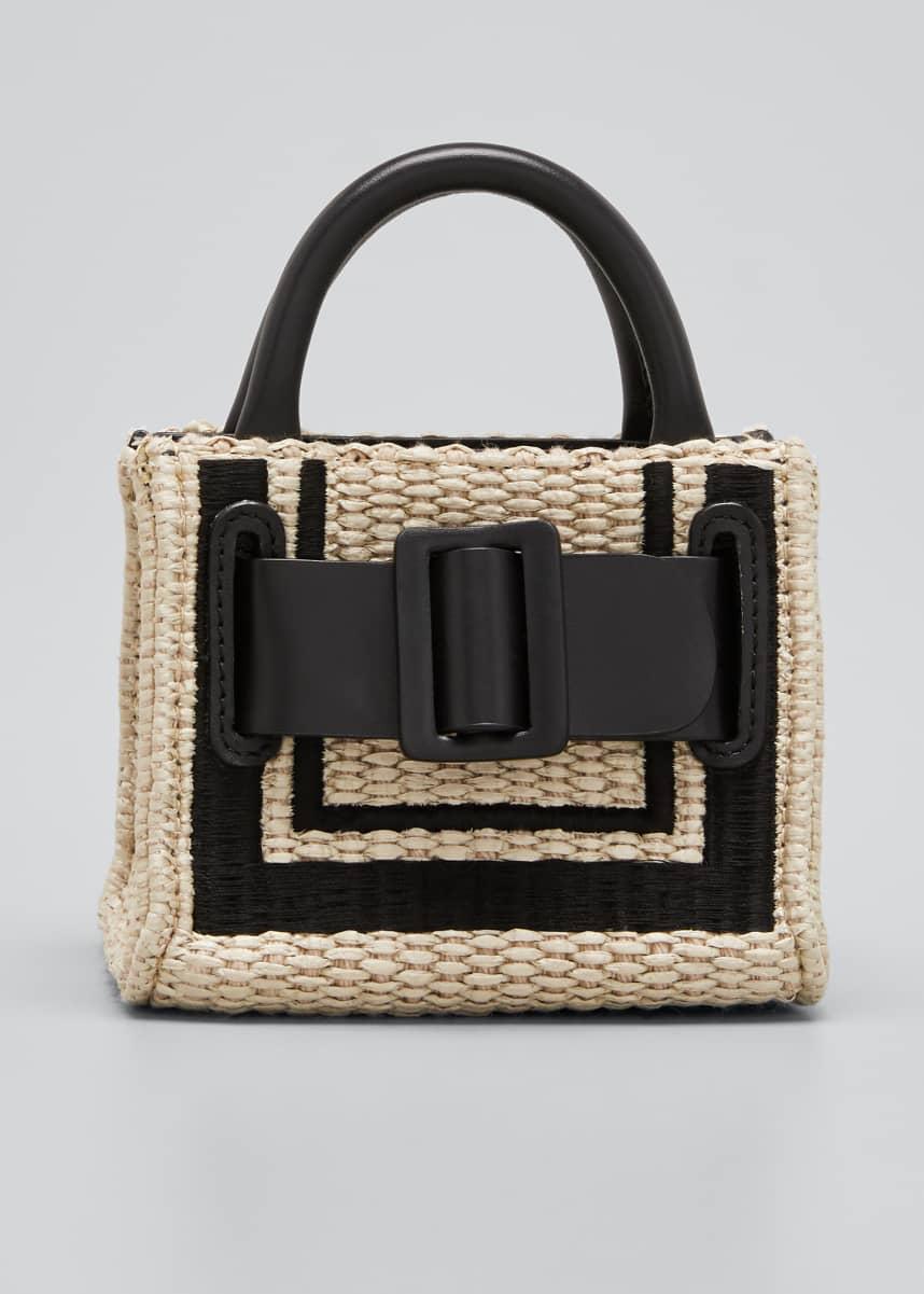 Boyy Bobby Surreal Belted Raffia Top Handle Bag