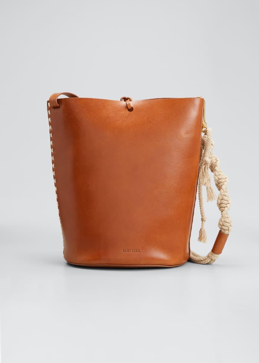 Nanushka Nia Leather Bucket Bag