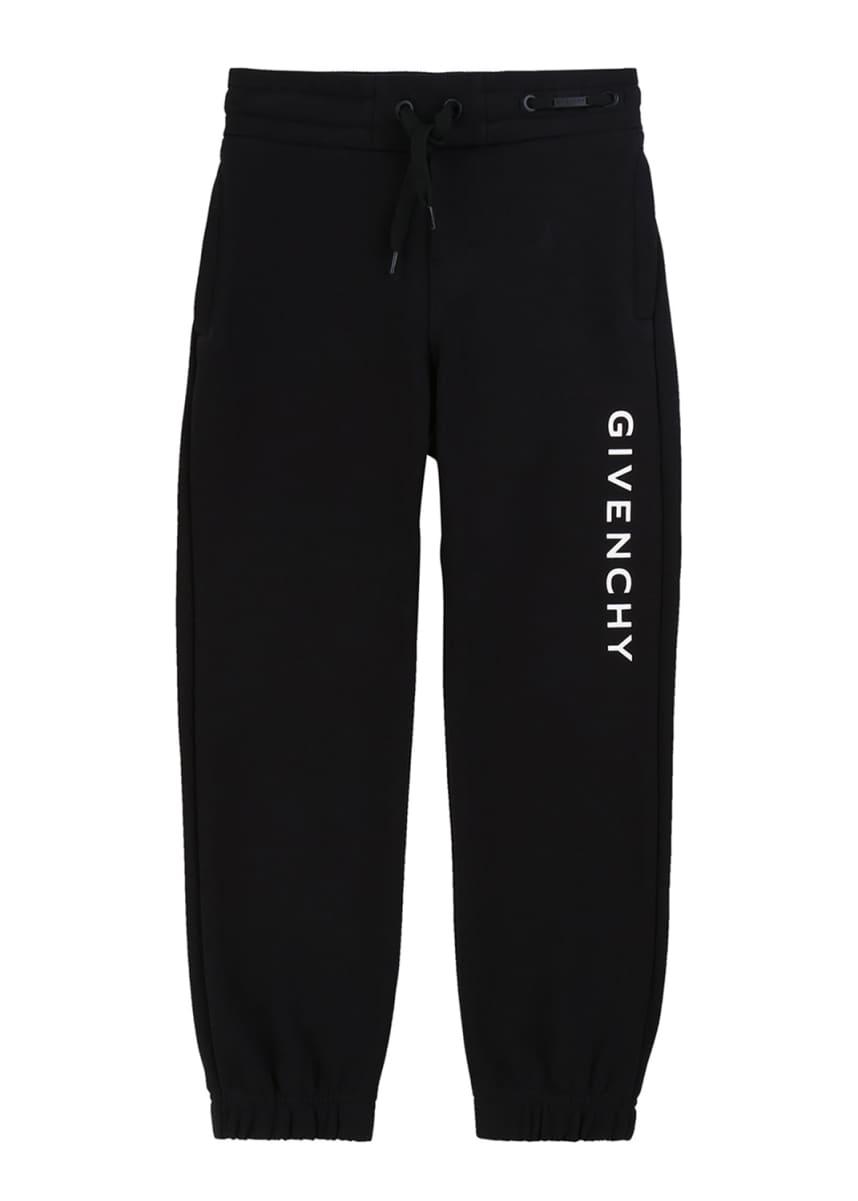 Givenchy Boy's Logo Mini Me Sweatpants, Size 12-14