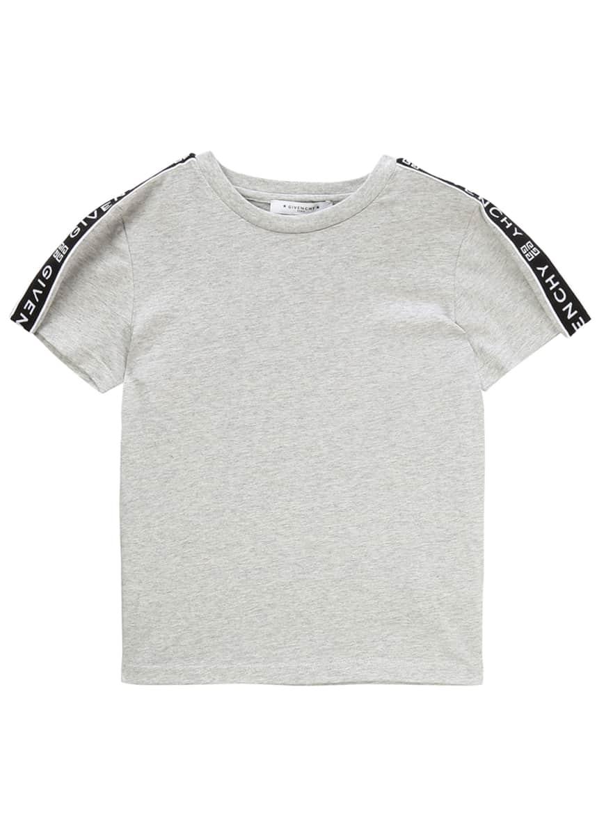 Givenchy Boy's Logo Trim Mini Me T-Shirt, Size 12-14