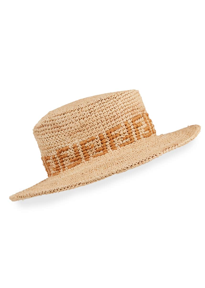 Fendi Men's FF Raffia Bucket Hat