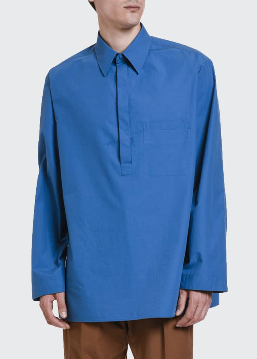 Valentino Men's Oversized Pullover Long-Sleeve Tunic