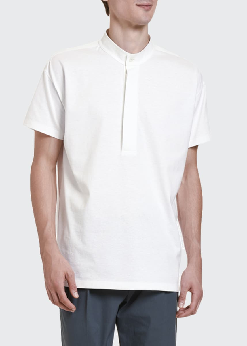 Valentino Men's Cabana Button-Placket T-Shirt