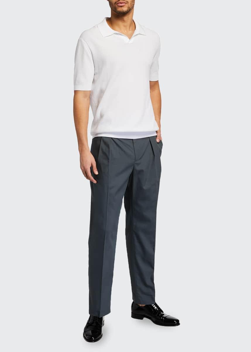 Valentino Men's Pleated Straight-Leg Pants