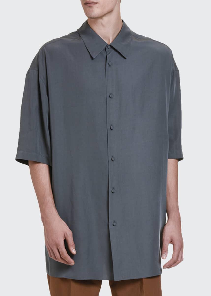 Valentino Men's Oversized Short-Sleeve Sport Shirt