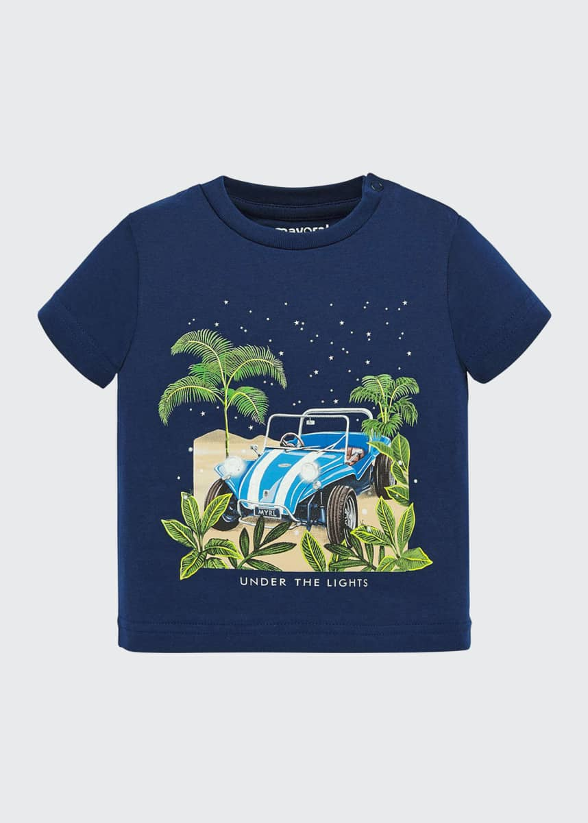 Mayoral Glow In The Dark Dunebuggy Graphic T-Shirt, Size 6-36 Months