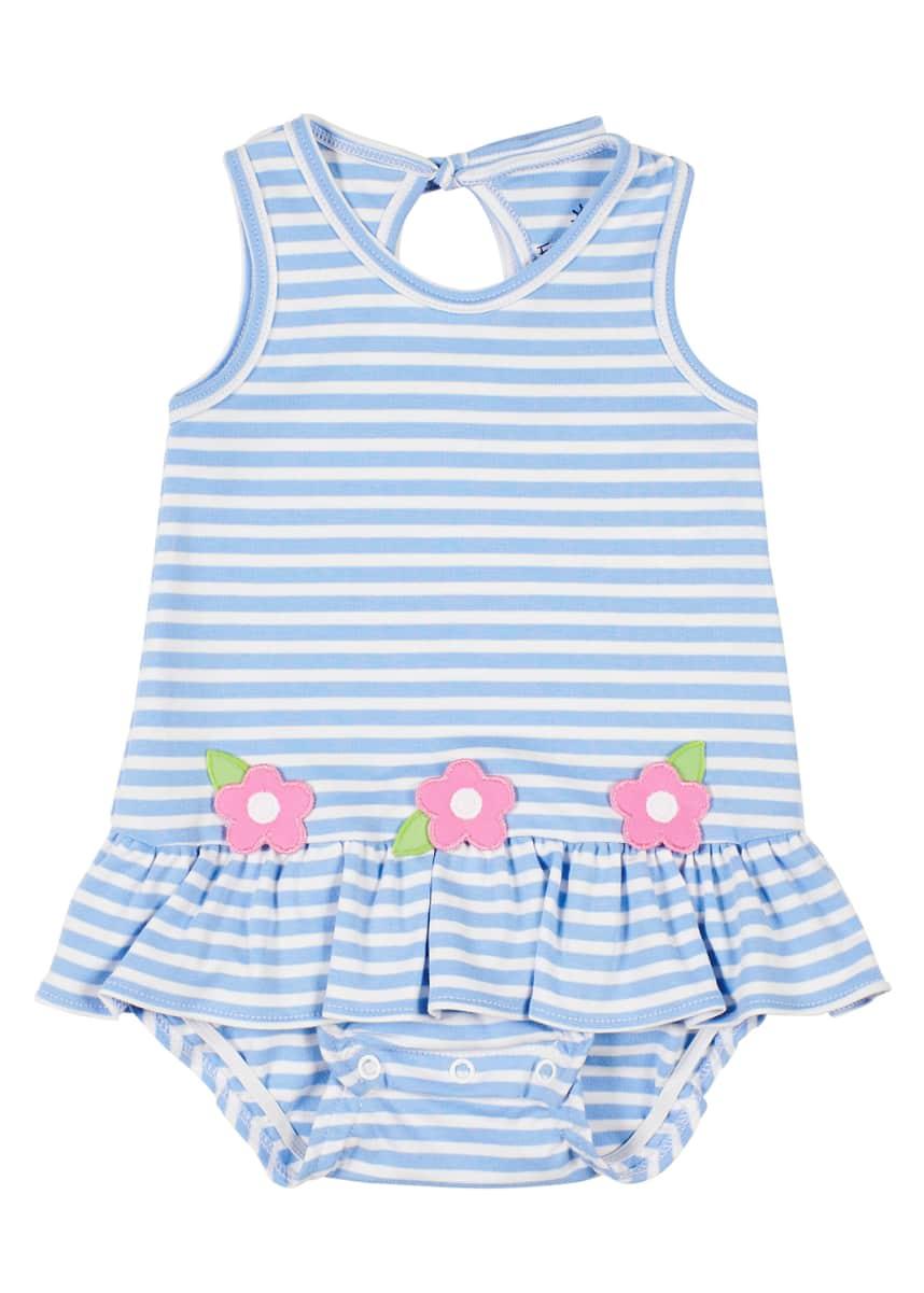 Florence Eiseman Flower Stripe Bubble Dress, Girls' 3-18 Months