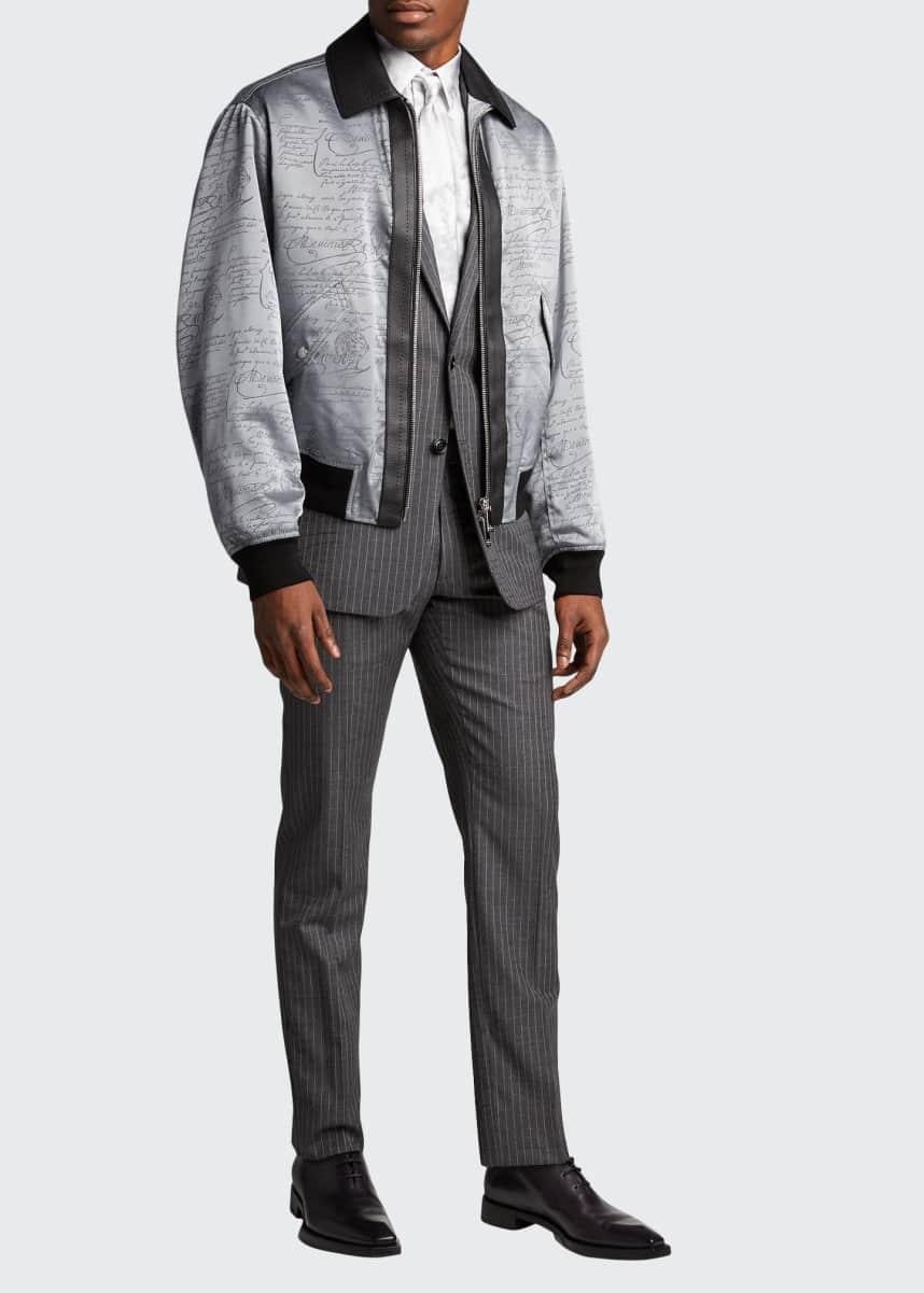 Berluti Men's Pinstripe Suit Separate Dress Pants