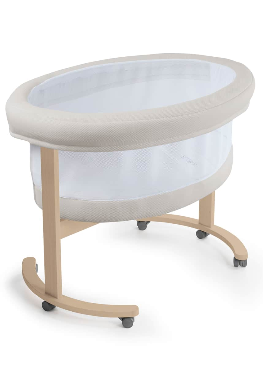 Micuna Smart Fresh Wooden Bassinet with Fabric