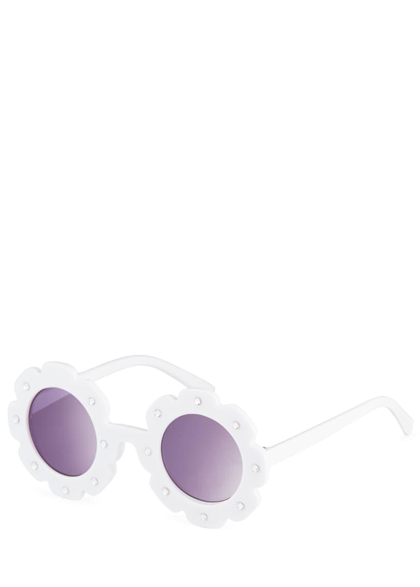 Bari Lynn Girl's Rimless Flower Sunglasses