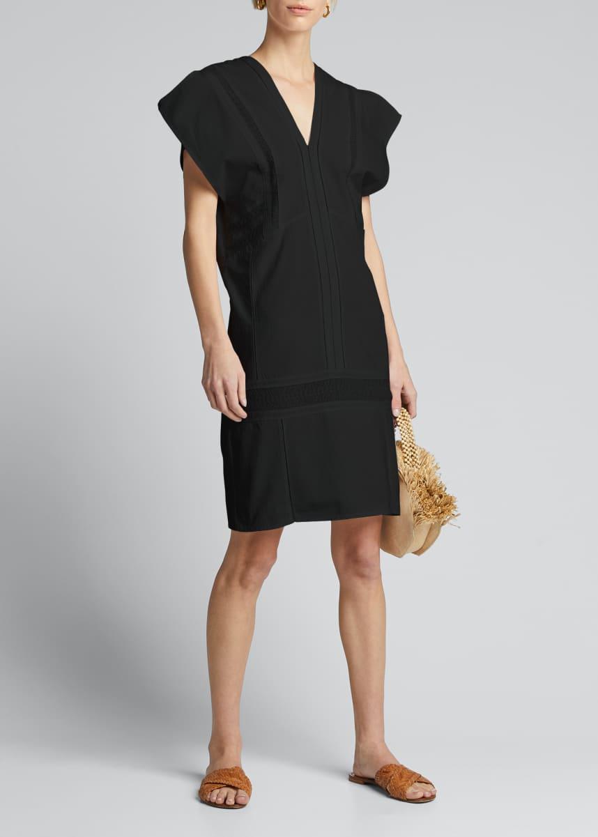 Collectiva Priscila Short-Sleeve Lace-Inset Dress