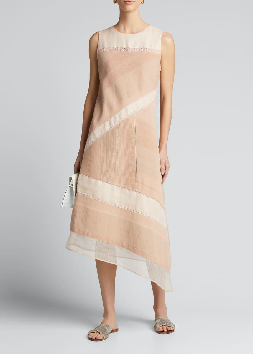 Collectiva Greta Asymmetric Colorblock Dress
