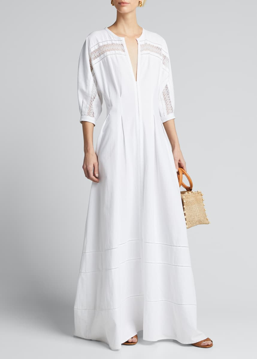 Collectiva Concha Lace-Trimmed Tunic Dress