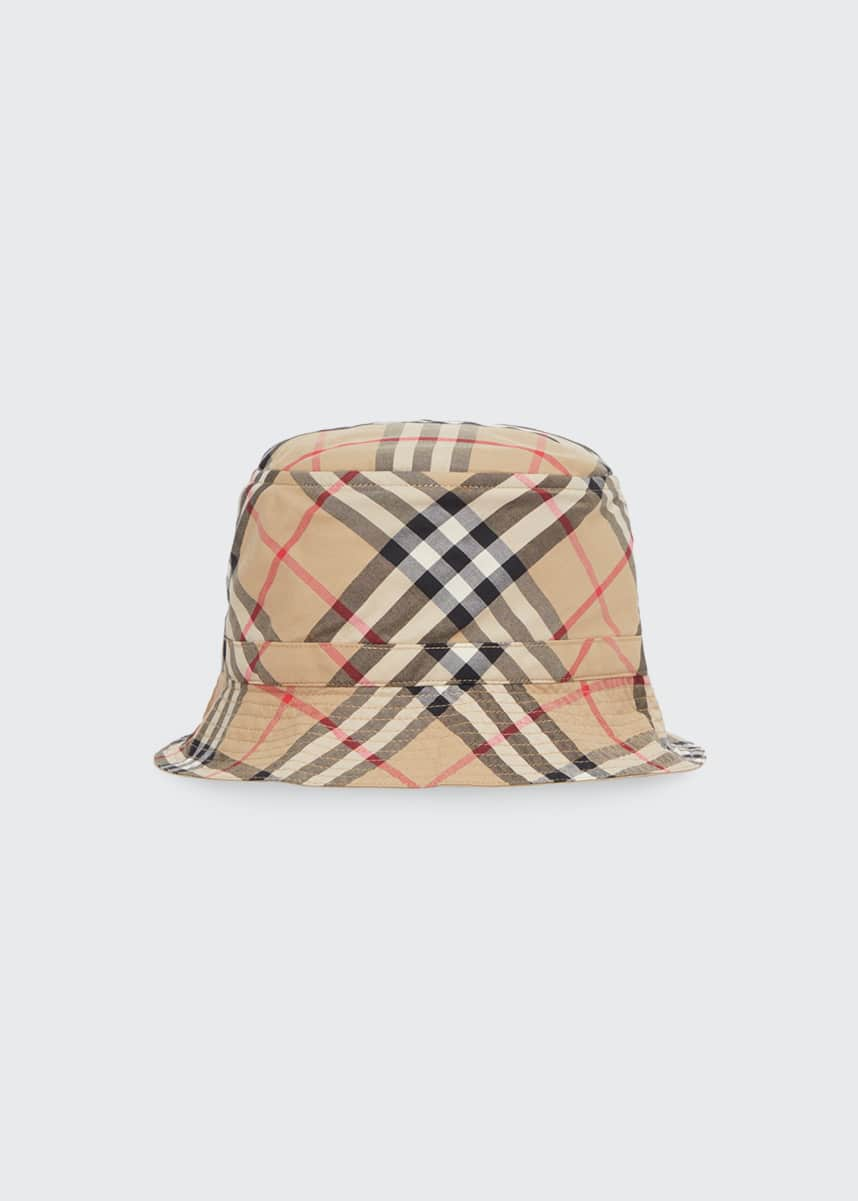 Burberry Kid's Vintage Check Twill Bucket Hat