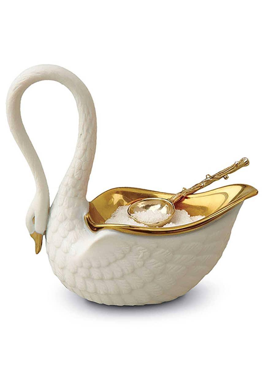 L'Objet White Swan Salt Cellar
