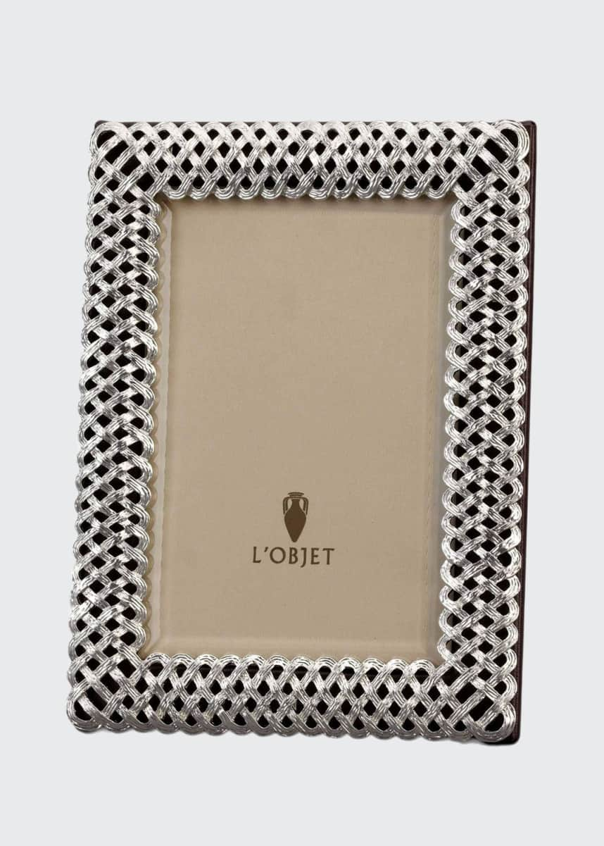 "L'Objet Platinum Braid 5"" x 7"" Picture Frame"