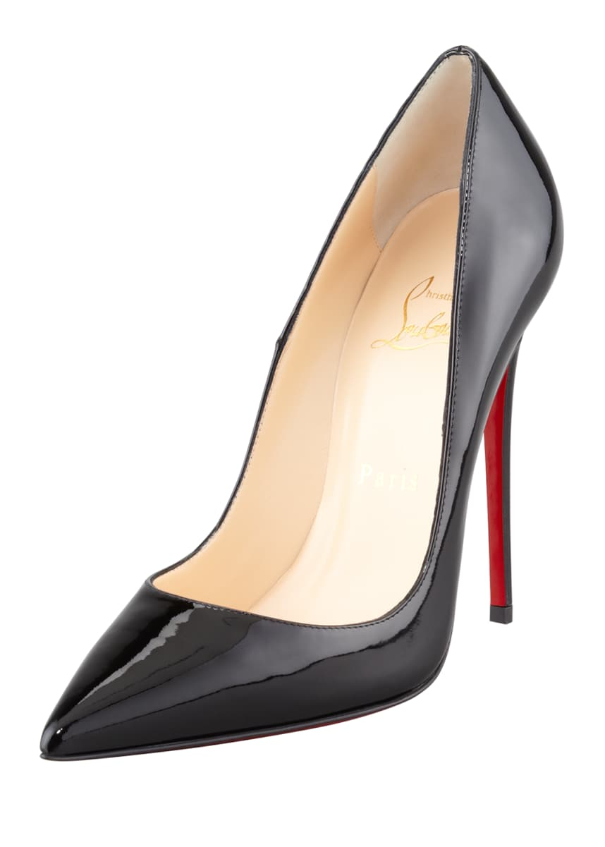 Christian Louboutin So Kate Patent Leather Point-Toe Pumps, Black