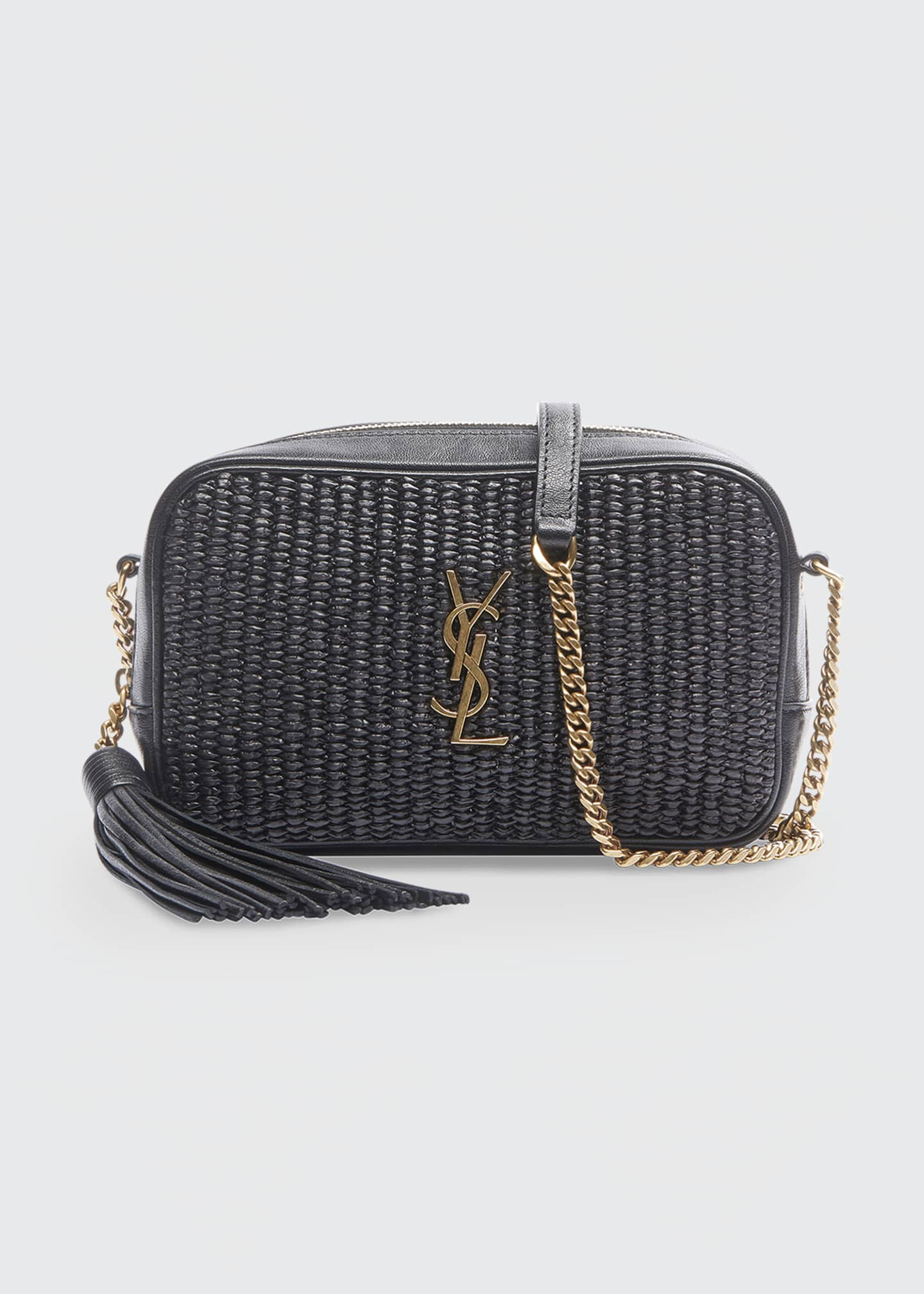Image 1 of 3: Lou Mini YSL Monogram Raffia Camera Bag