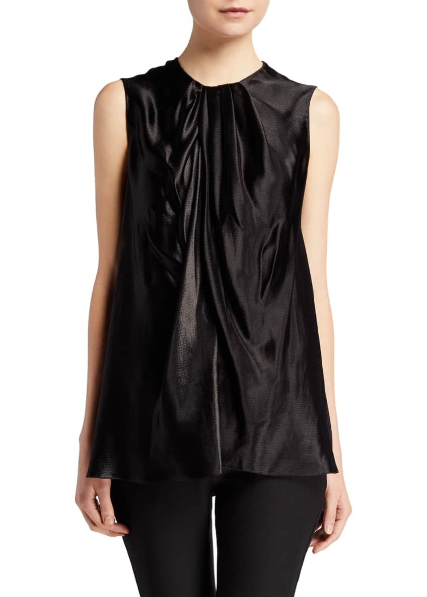 THE ROW Shira Hammered Jersey Top & Matching