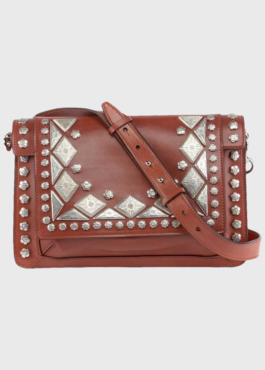 Isabel Marant Studded Maskhia Crossbody Bag