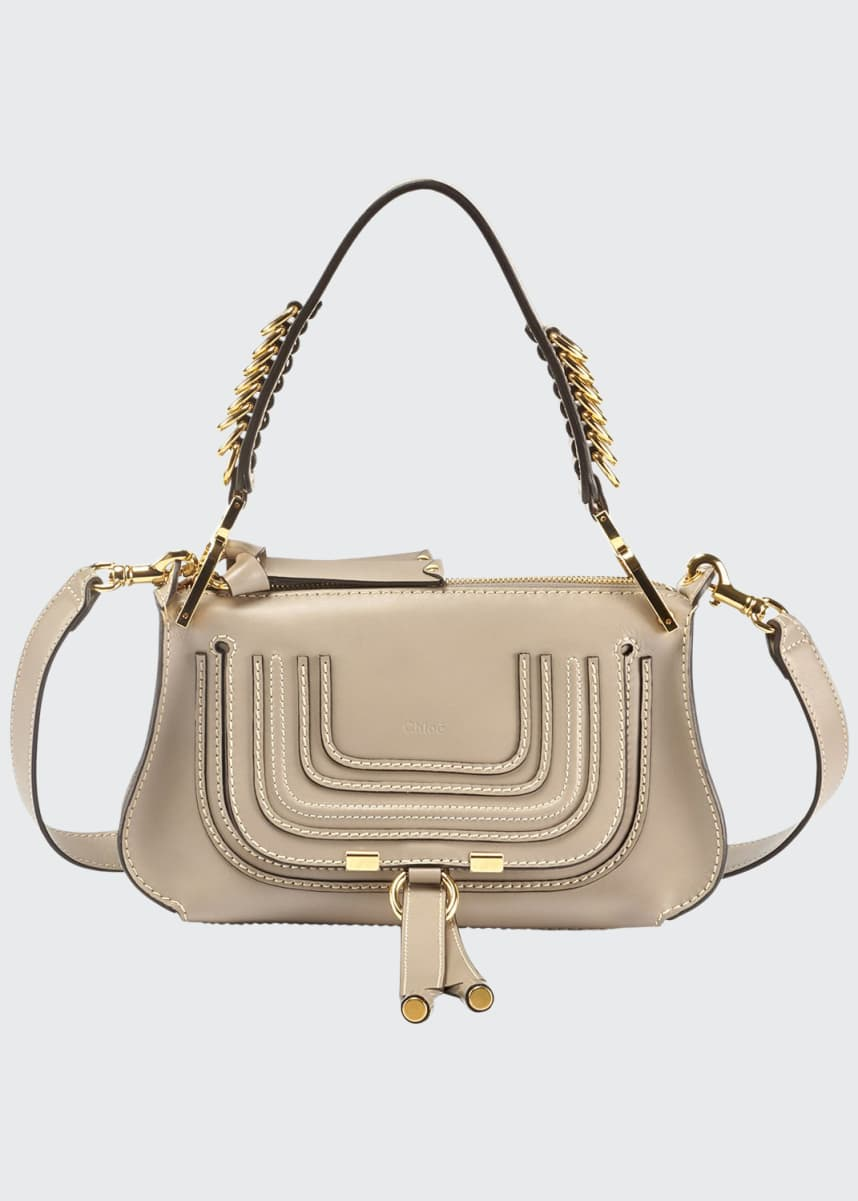 Chloe Marcie Small Shiny Saddle Shoulder Bag