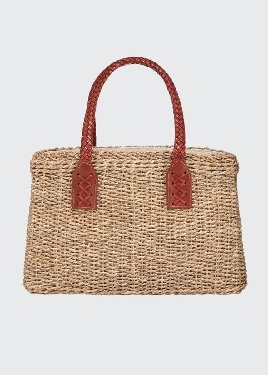 Laboratorio Capri Woven Wicker Straw Tote Bag
