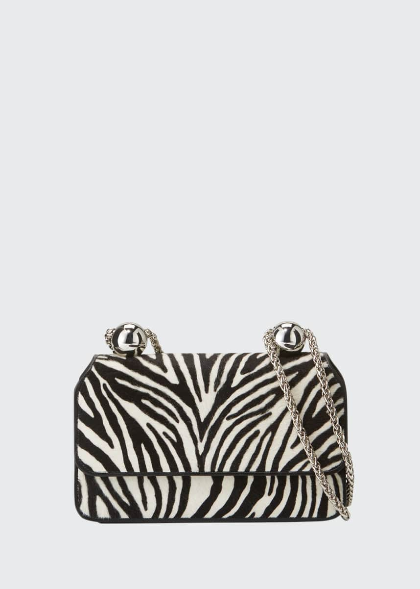 PELLEGRINO Animal-Print Flap Shoulder Bag