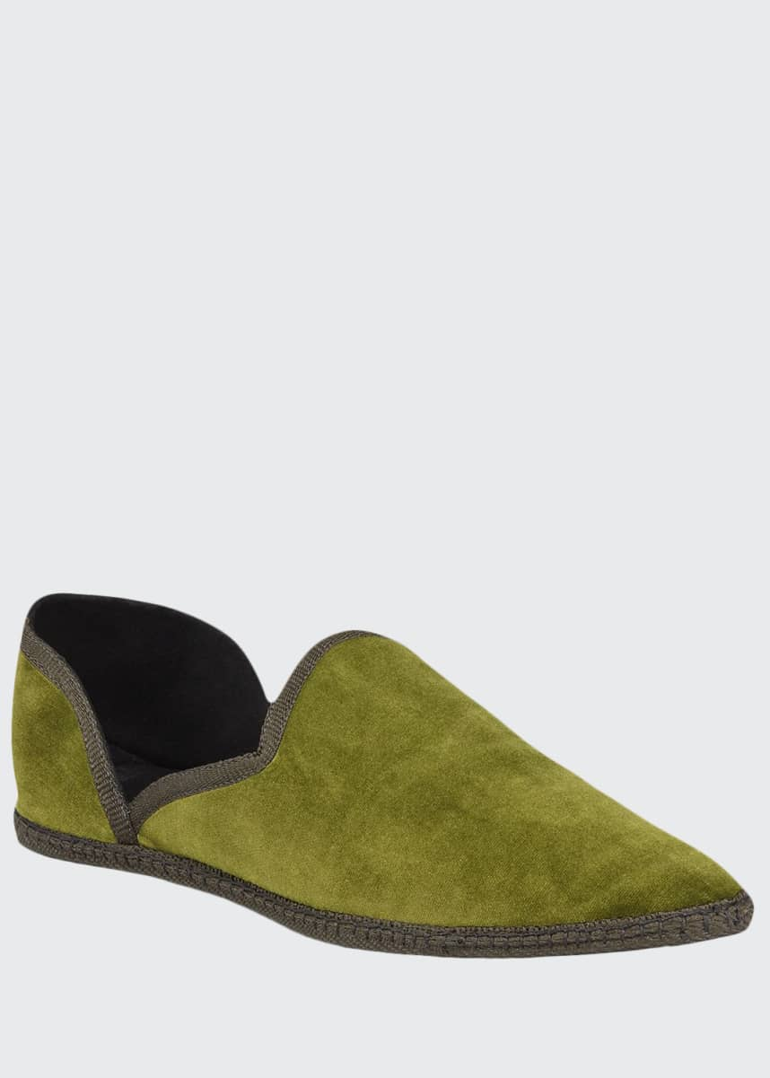 THE ROW Friulane Soft Velvet Flat Slippers
