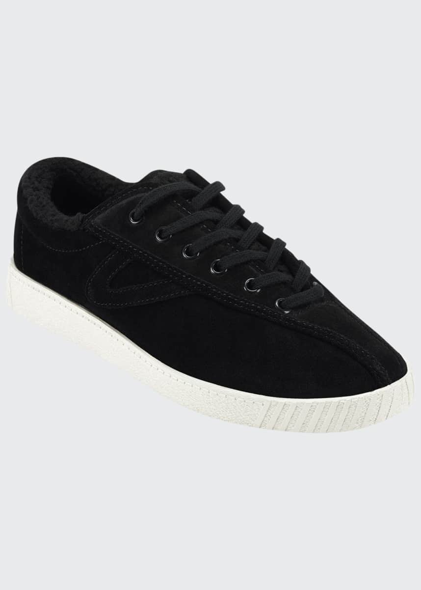Tretorn Nylite 35 Plus Low-Top Sneakers with Faux-Fur Lining