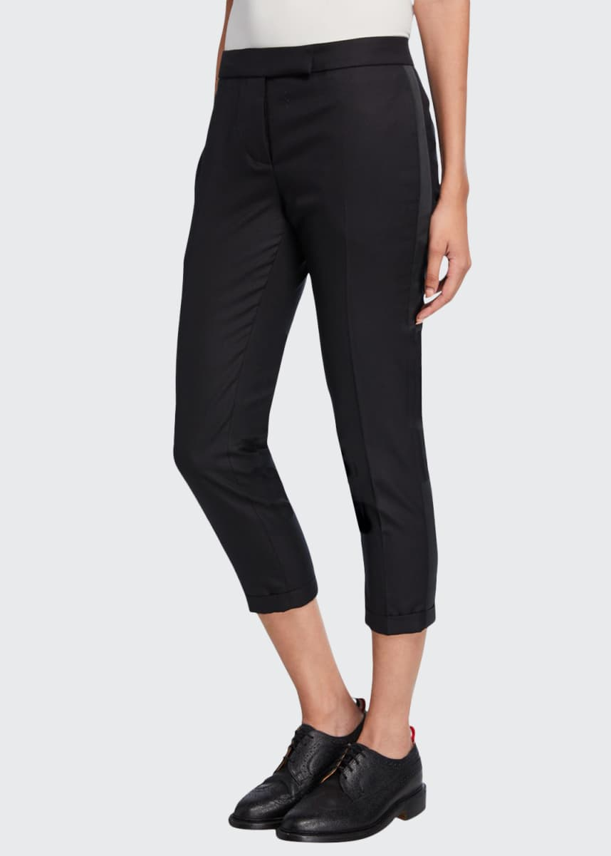 Thom Browne Low-Rise Skinny Tuxedo Trousers