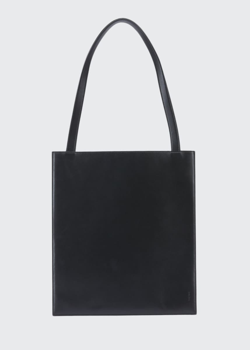 THE ROW Flat Tote Bag in Shiny Calfskin