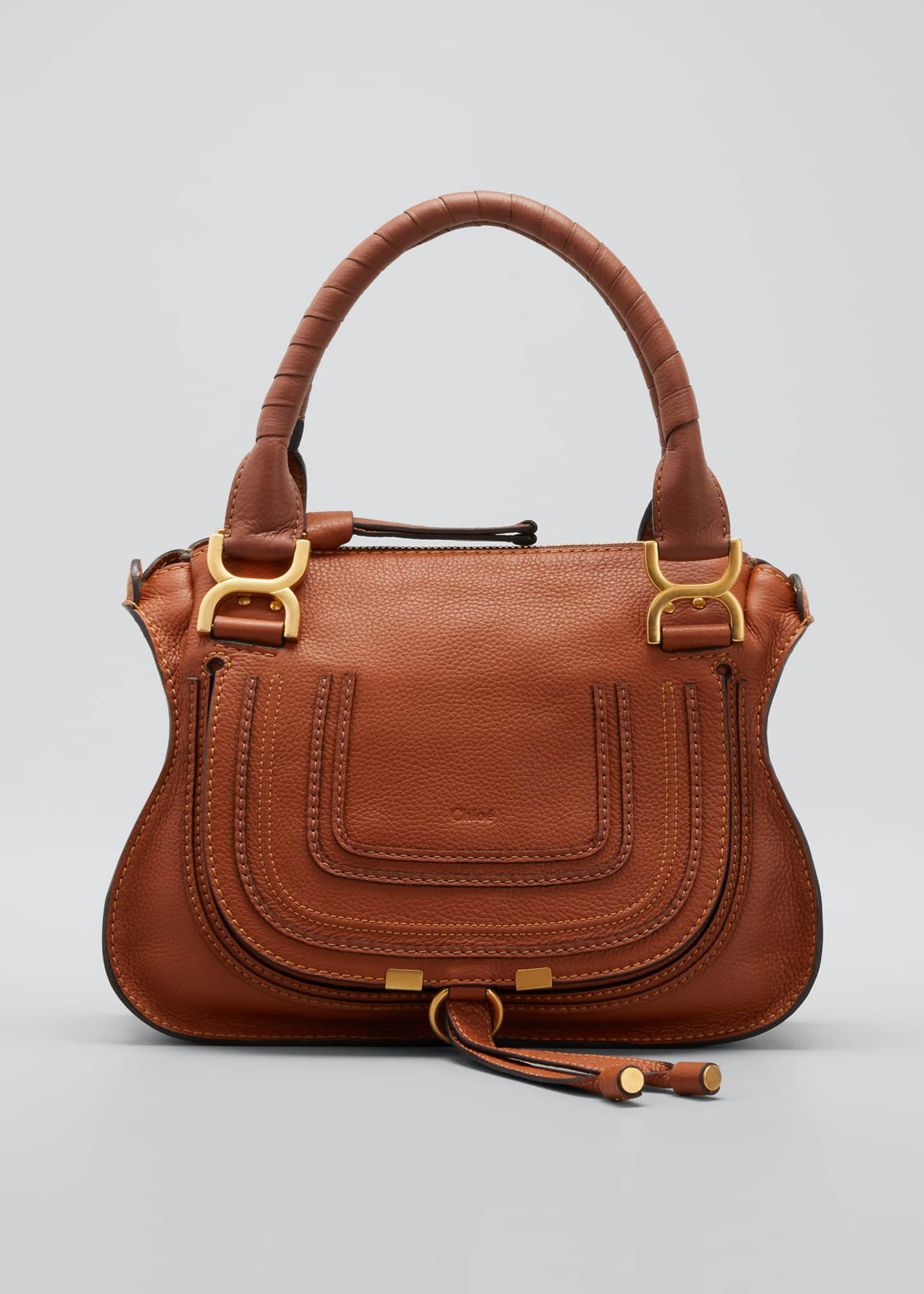Chloe Marcie Small Double-Carry Satchel Bag