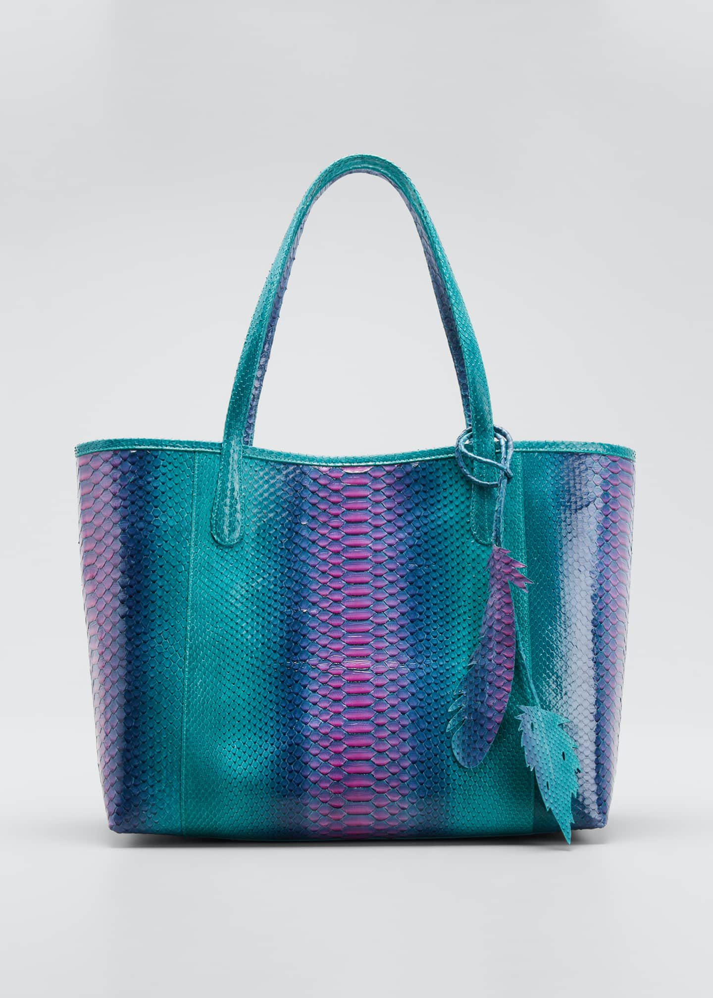 Nancy Gonzalez Erika Iridescent Python Tote Bag
