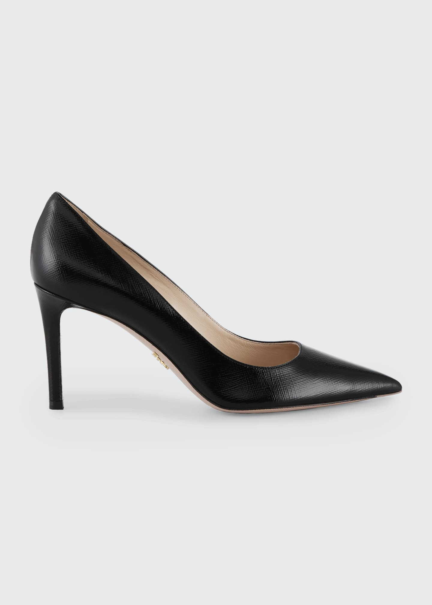 Prada Patent Saffiano Leather 85mm Pumps