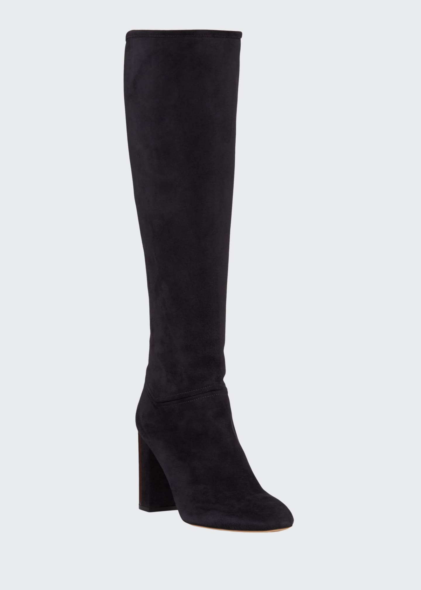 Image 1 of 3: Jeanne Suede Knee Boots
