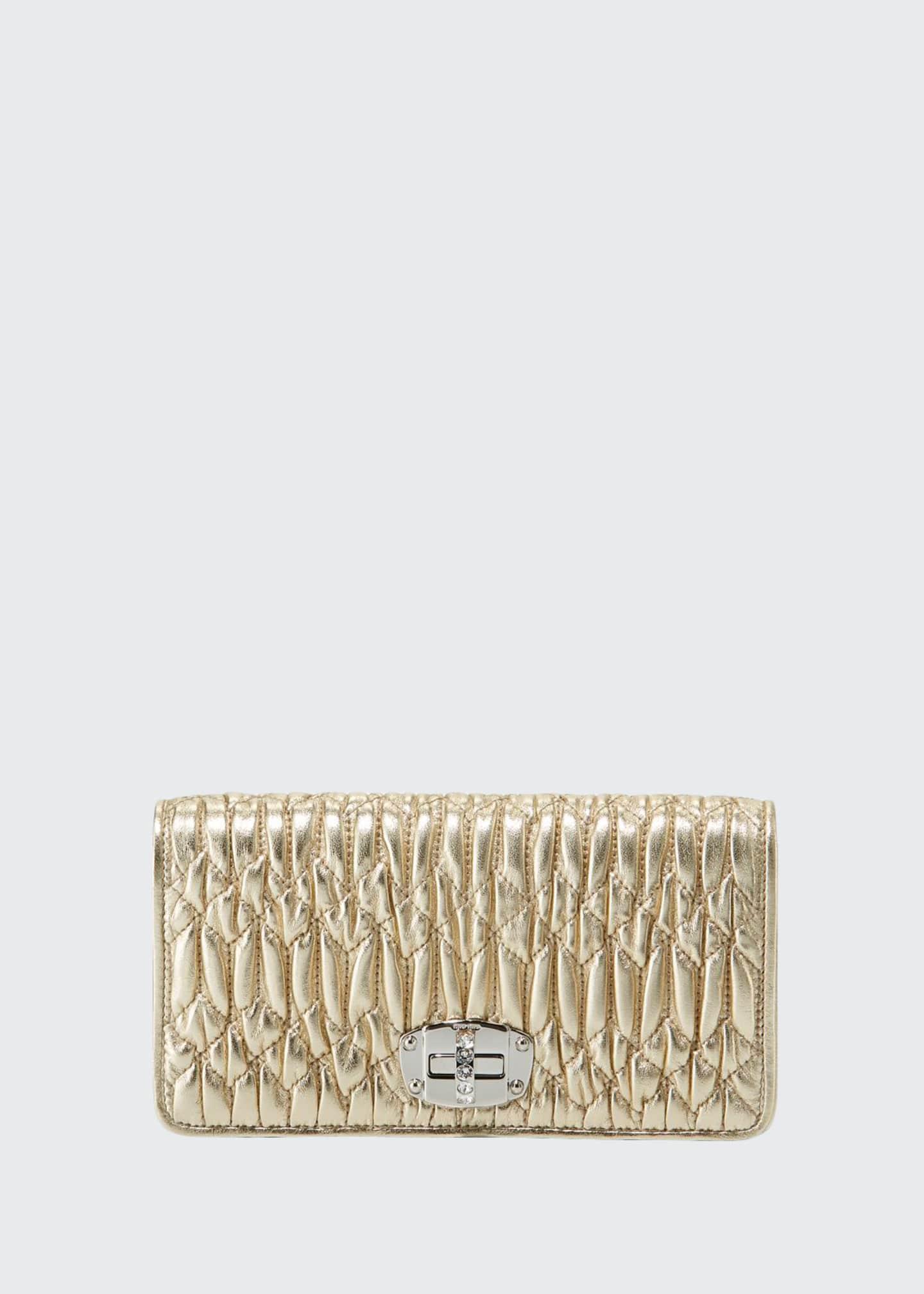 Miu Miu Napa Leather Wallet on a Crossbody