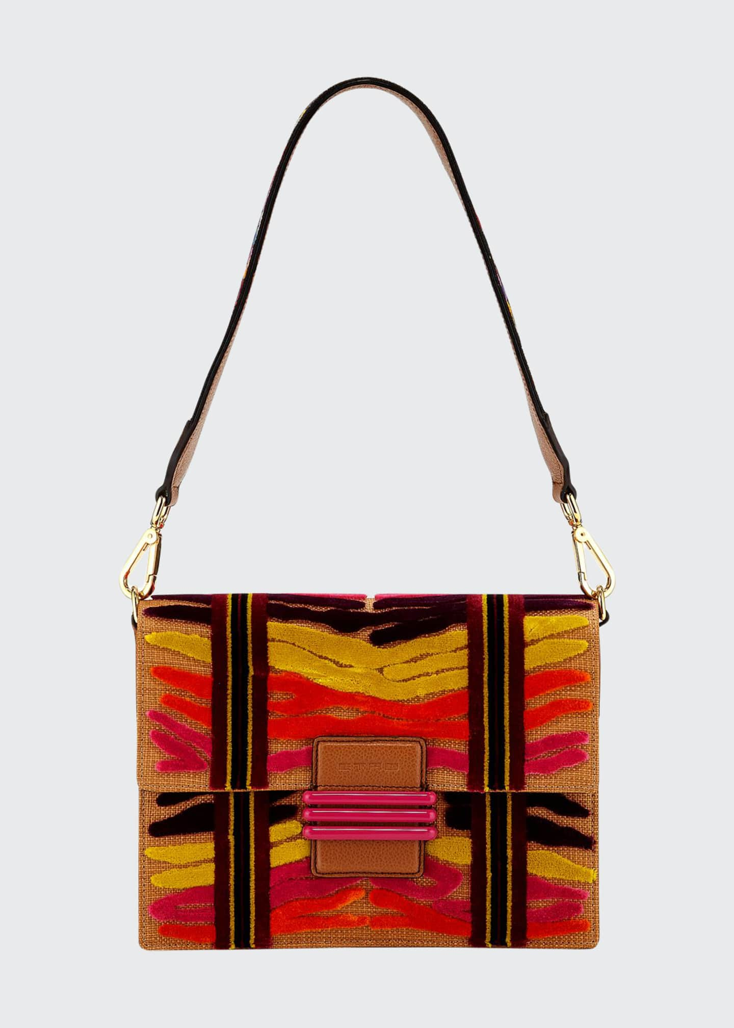 Etro Patterned Embroidered Shoulder Bag