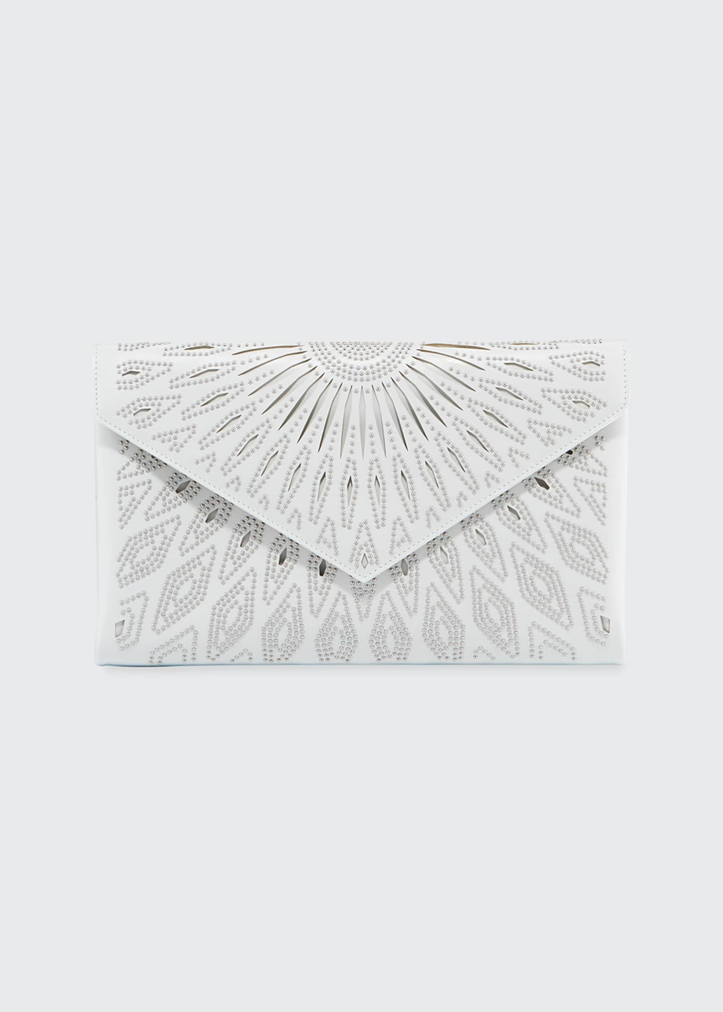 ALAIA Oum Beaded Laser-Cut Clutch Bag