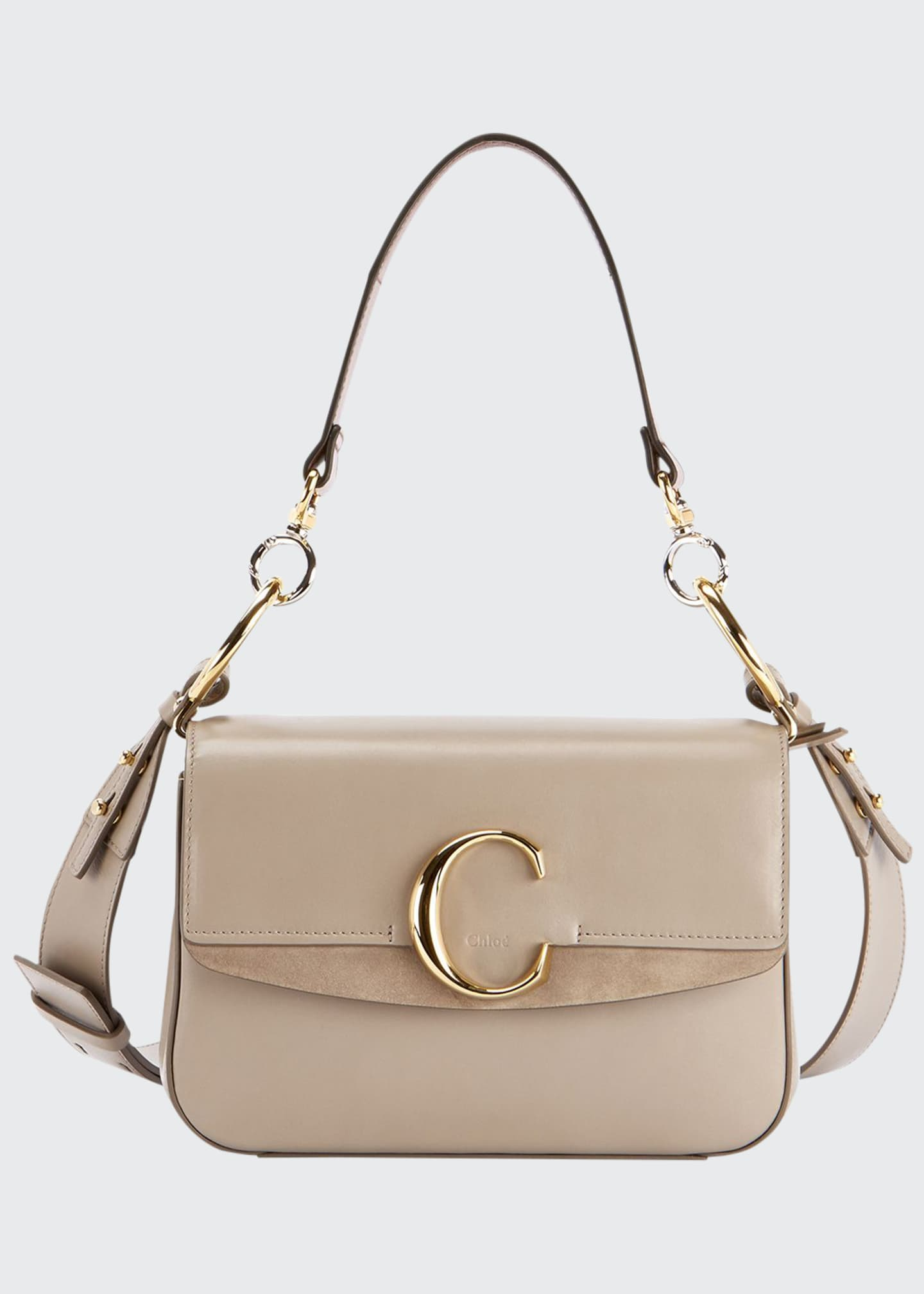 Chloe C Small Shiny Calf Leather Shoulder Bag