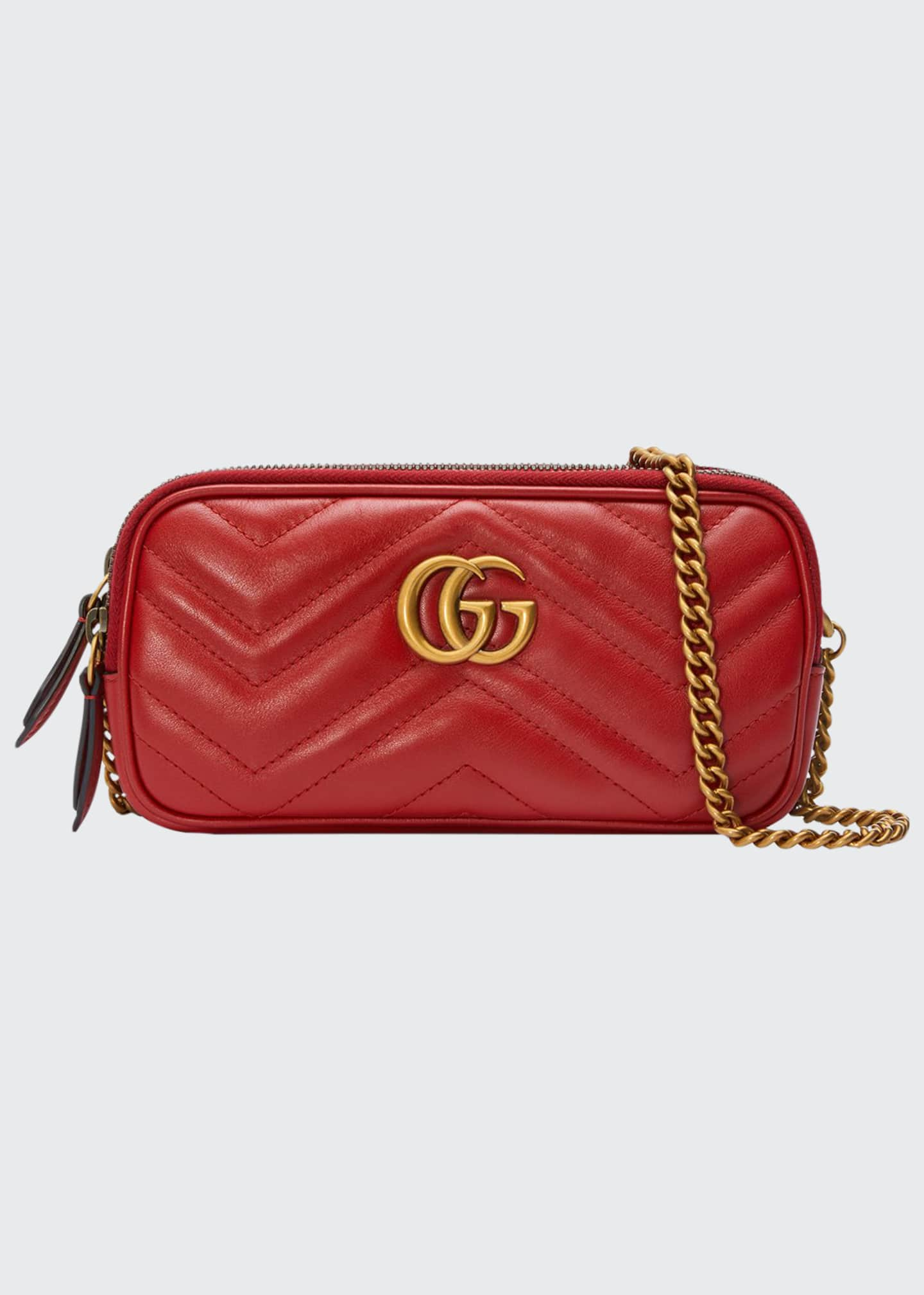 Image 1 of 4: GG Marmont Mini Zip-Top Camera Case Bag