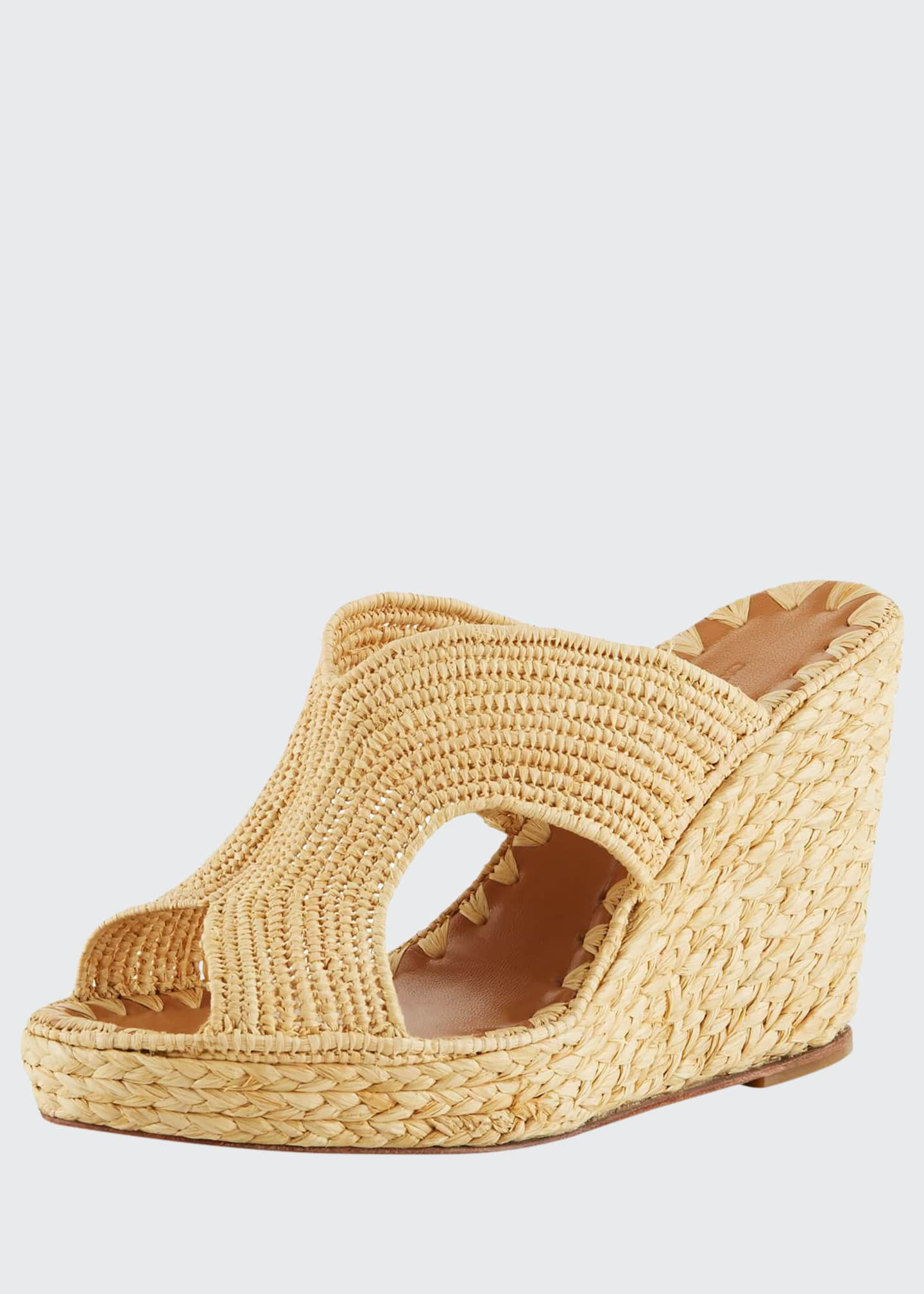 Carrie Forbes Lina Cutout Slide Wedge Sandals